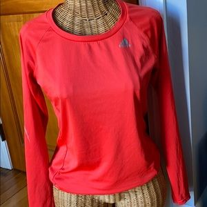 Adidas climate red long sleeve shirt